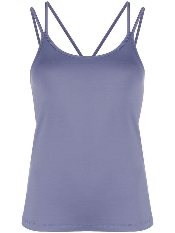 Filippa K Soft Sport layered multi-strap yoga top in blue