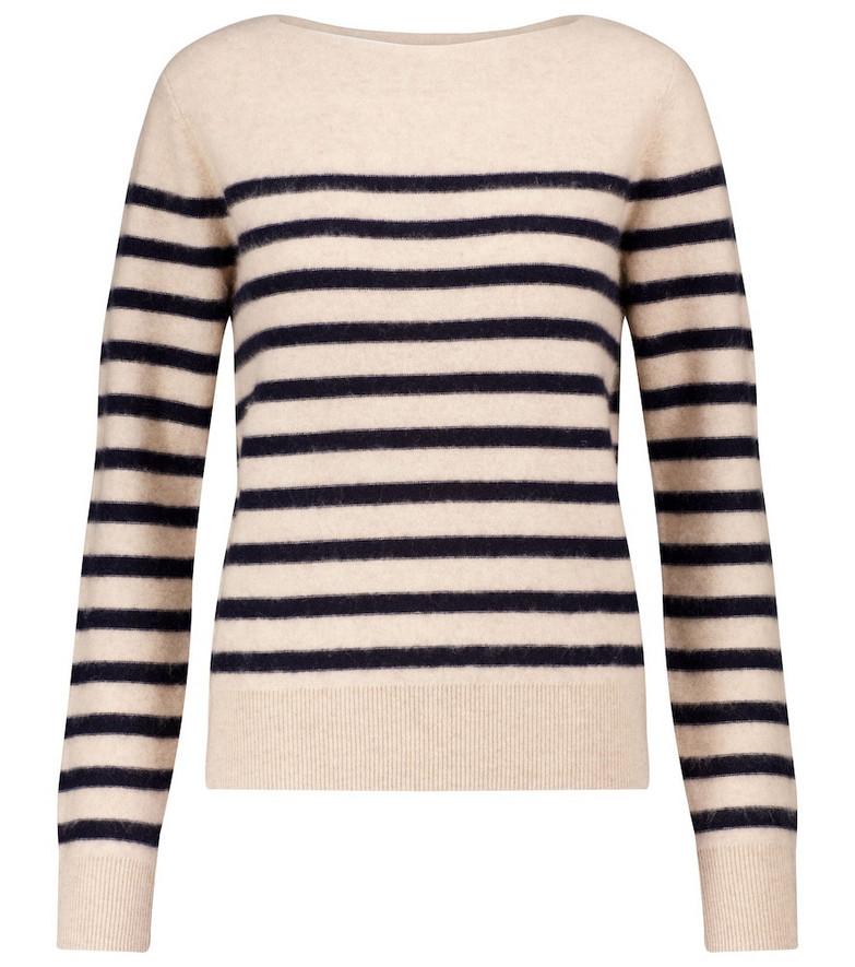 Vince Striped cashmere sweater in beige