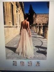 dress,glitter,cleavage,gold,glitter dress,long dress,big cleavage