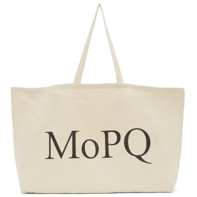 Museum of Peace and Quiet Beige Twill MoPQ Tote in natural