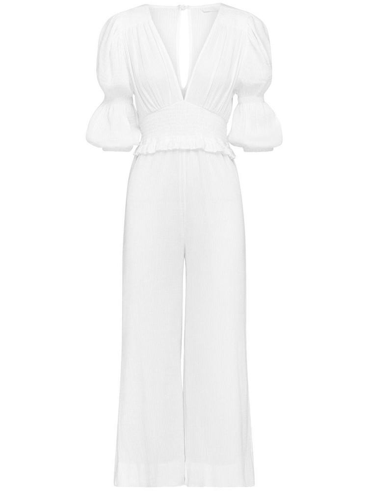 PEONY Magnolia Organic Cotton Jumpsuit in white