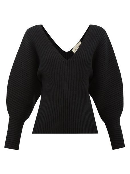 Mara Hoffman - Olla V-neck Organic Cotton-blend Sweater - Womens - Black