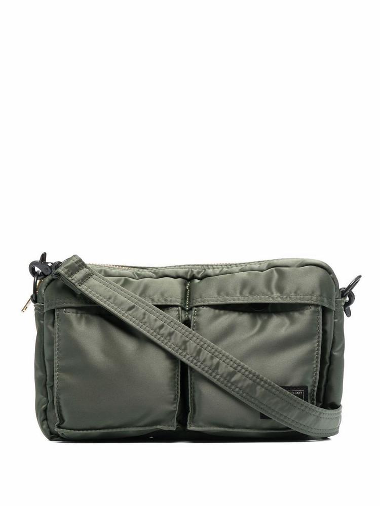 Porter-Yoshida & Co. Porter-Yoshida & Co. double-patch messenger bag - Green
