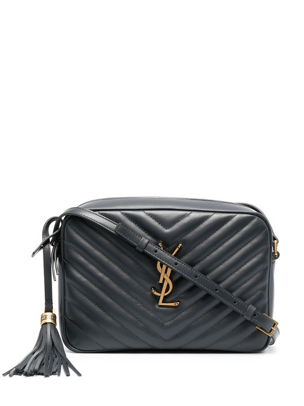 Saint Laurent Lou quilted camera bag in grey