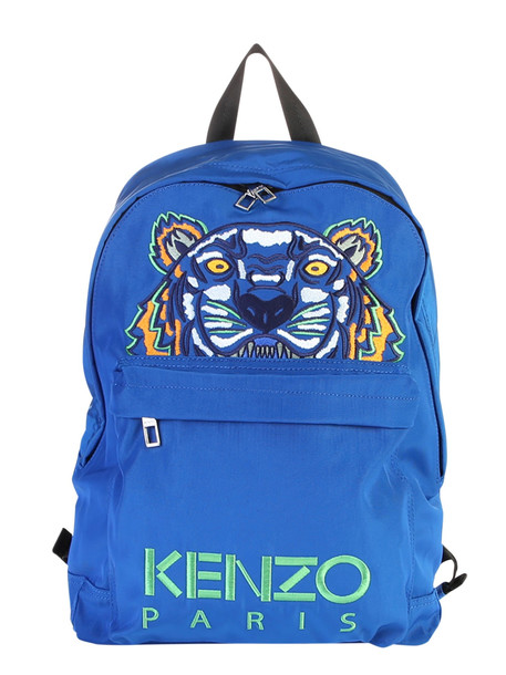 Kenzo Embroidered Nylon Backpack in blue