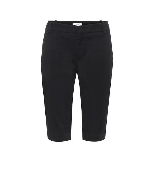 Vince Stretch-cotton berumda shorts in black