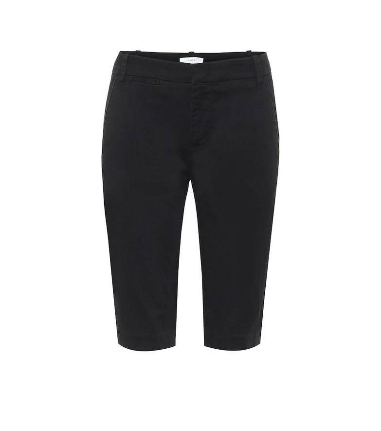 Vince Stretch-cotton berumda shorts in black