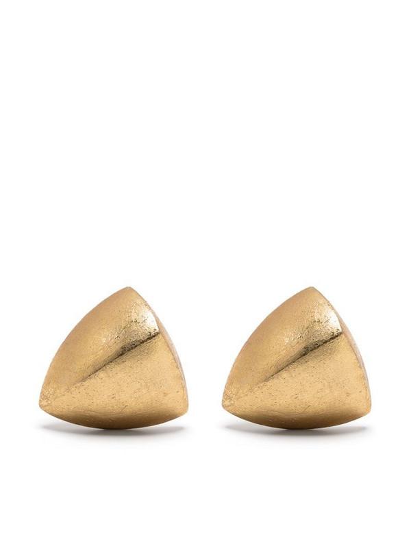 Monies sculpted metallic earrings in gold