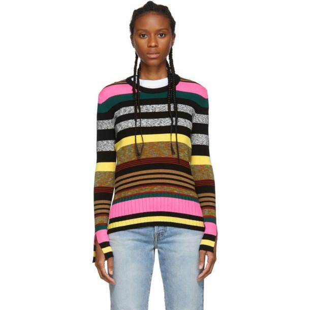 Kenzo Multicolor Striped Crewneck Sweater in multi