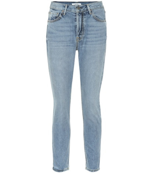 Grlfrnd Karolina high-rise skinny jeans in blue