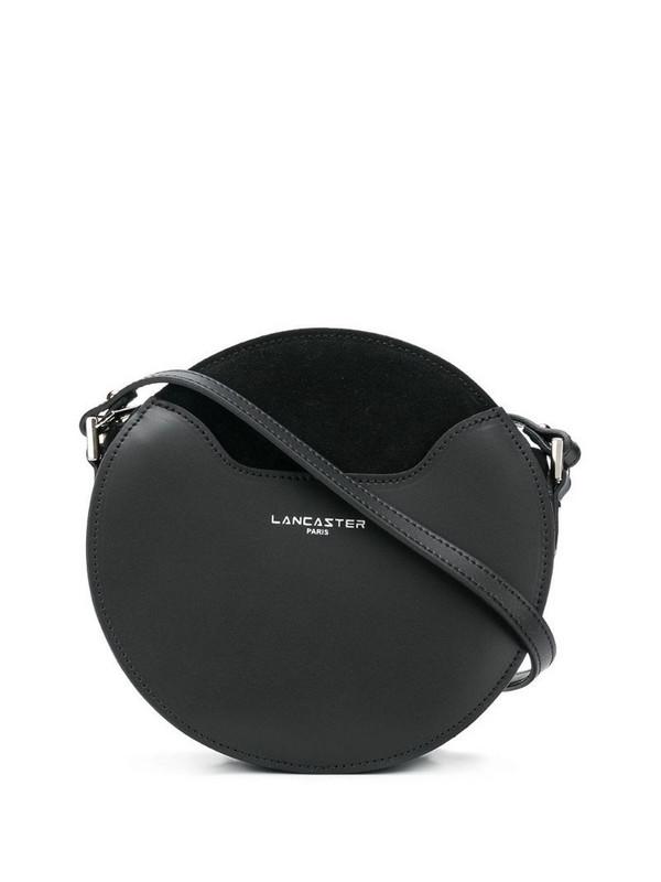 Lancaster round crossbody bag in black