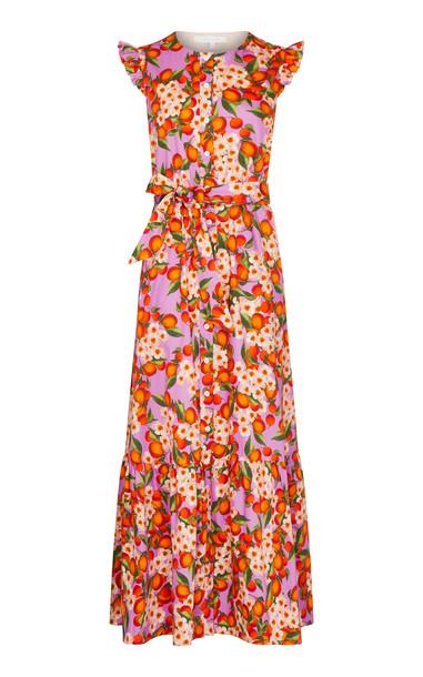 Borgo De Nor Gabrielle Cotton-Poplin Dress in pink