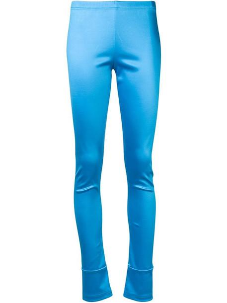 Junya Watanabe classic skinny-fit leggings in blue