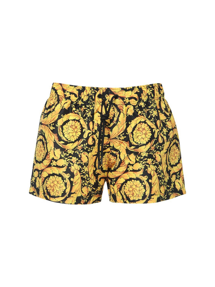 VERSACE All Over Barocco Print Techno Shorts
