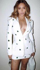 jacket,blazer,skirt,mini,mini skirt,beyonce,celebrity,instagram,embellished