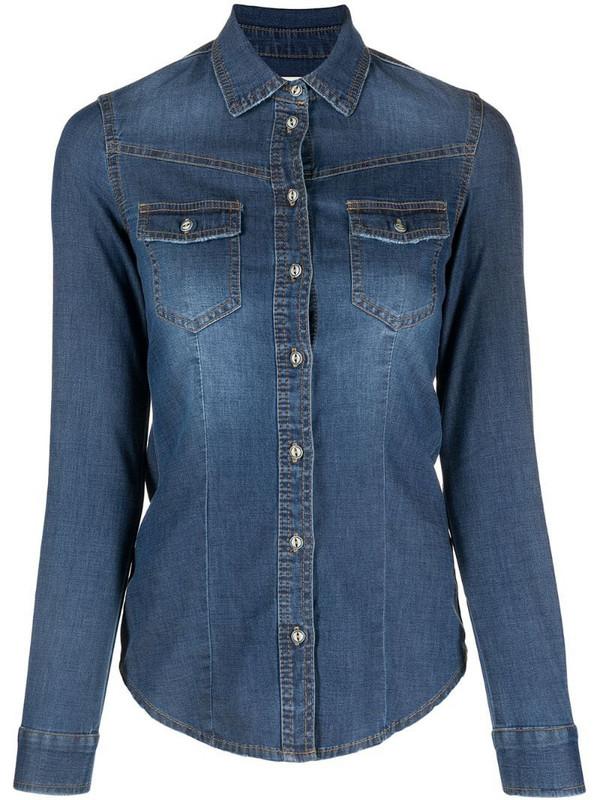 Bazar Deluxe long-sleeve denim shirt in blue