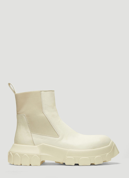 Rick Owens Bozo Tractor Beetle Boots in White size EU - 39