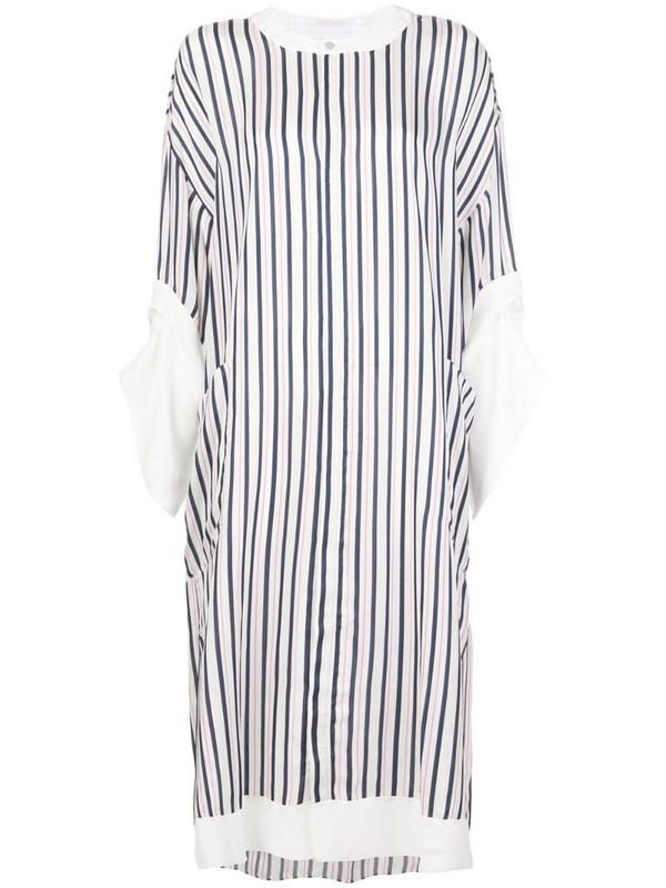 Roland Mouret Dove striped dress in white
