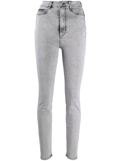 Philipp Plein high-rise skinny jeans in grey