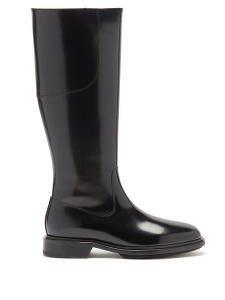 A.P.C. A.P.C. - Charlie Leather Knee-high Boots - Womens - Black