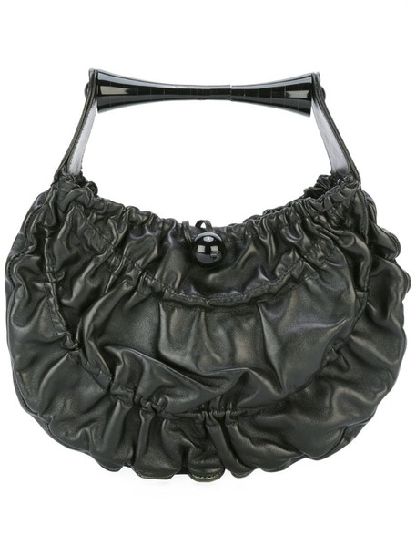 Giorgio Armani Pre-Owned gathered effect tote bag in black