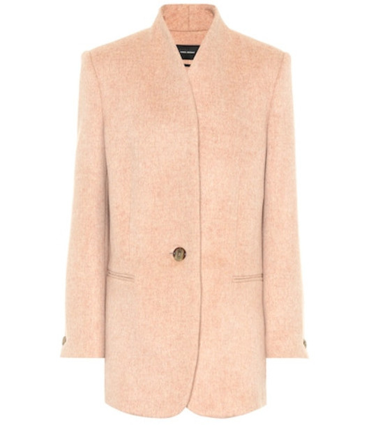 Isabel Marant Felisey wool and cashmere jacket in pink