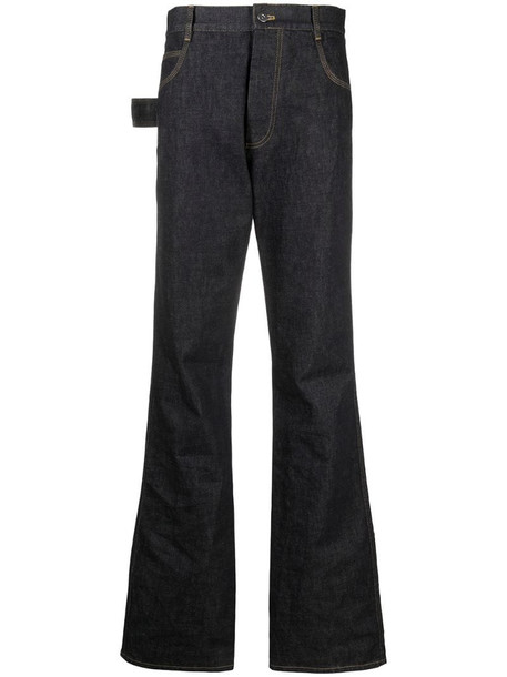 Bottega Veneta contrast-stitch high-rise jeans in blue