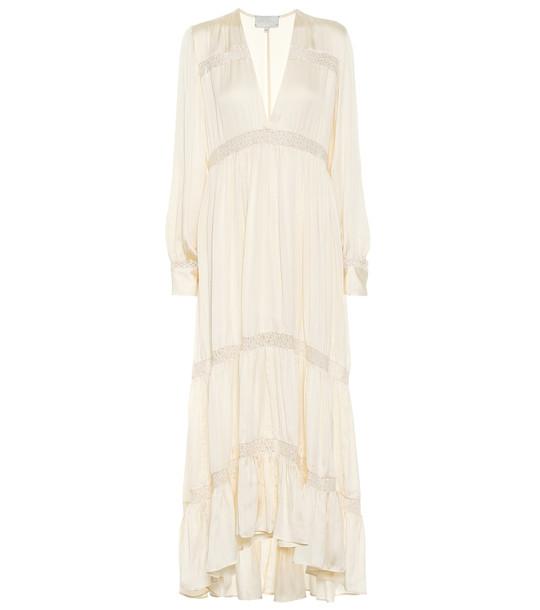 Arjé Phoebe silk maxi dress in white