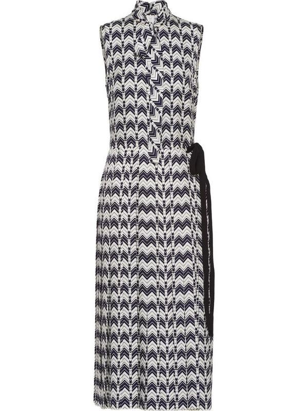 Prada chevron-motif dress in blue