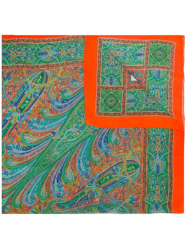 Yves Saint Laurent Pre-Owned paisley print scarf in green