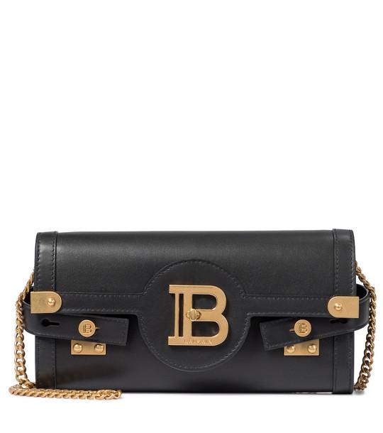 Balmain B-Buzz 23 Small leather crossbody bag in black