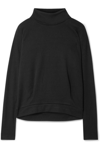 Alo Yoga - Clarity Rib-trimmed Jersey Turtleneck Sweatshirt - Black