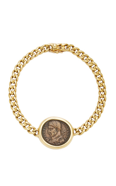 Eleuteri Vintage Bulgari 18K Yellow Gold and Antique Coin Bracelet