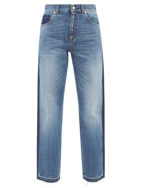 Alexander Mcqueen - Side-stripe Straight-leg Jeans - Womens - Denim