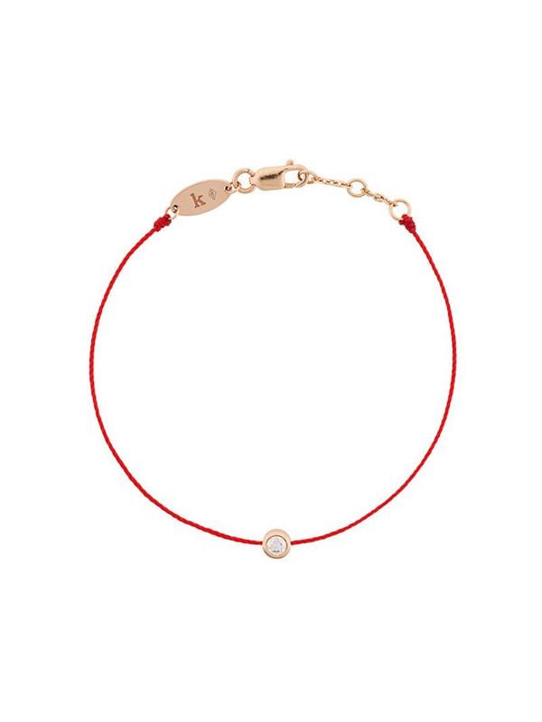 Redline 18kt rose gold and diamond string bracelet
