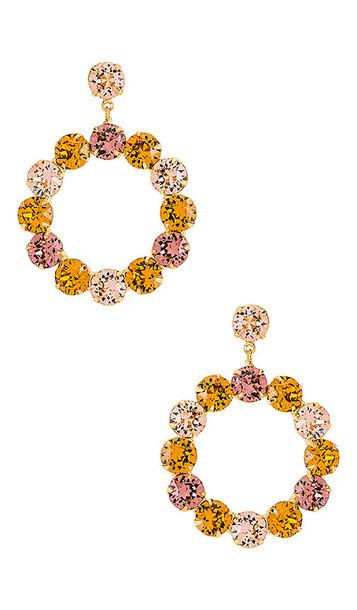 Jennifer Behr Maddox Earring in Metallic Gold,Pink,Yellow