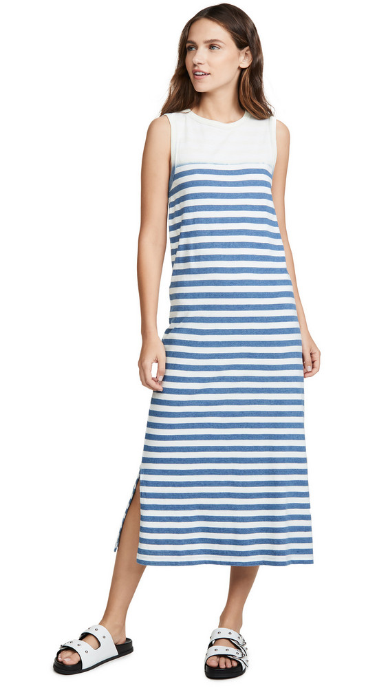 Current/Elliott The Perfect Muscle Tee Dress in blue
