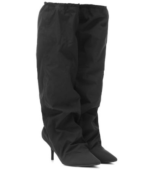 Yeezy Nylon knee-high boots (SEASON 8) in black