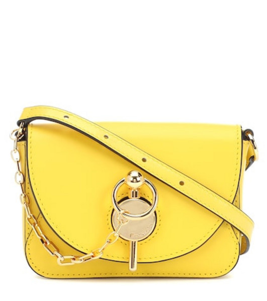 JW Anderson Keyts Nano leather shoulder bag in yellow