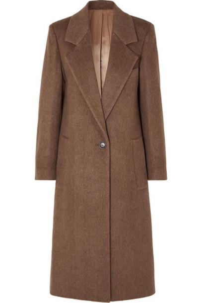 Joseph - Captain Herringbone Wool-blend Coat - Brown