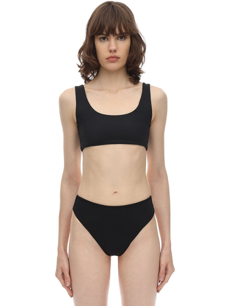 AEXAE Magnum Lycra Bikini Top in black