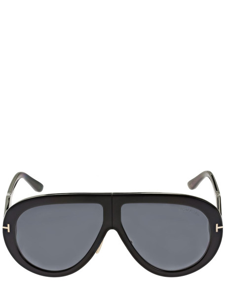 TOM FORD Troy Pilot Acetate Sunglasses in black