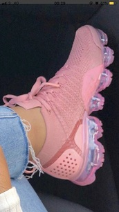 shoes,pink with air pockets