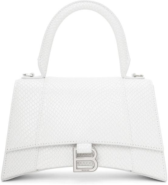 Balenciaga White Snake Small Hourglass Bag