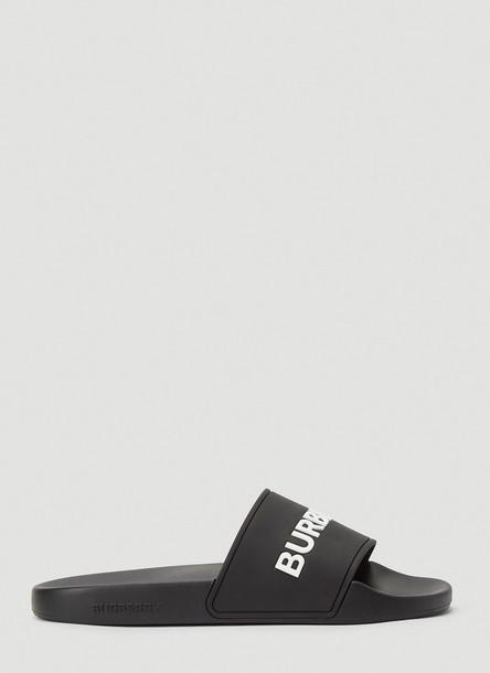 Burberry Logo Rubber Slides in Black size EU - 41