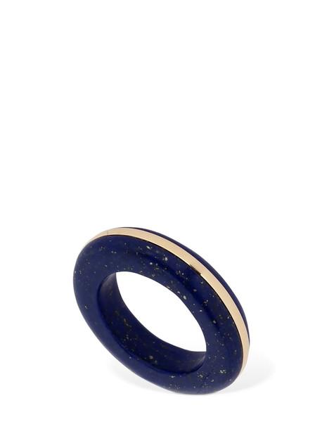 BY PARIAH Lapis Lazuli Eye Stacking Ring in blue / gold