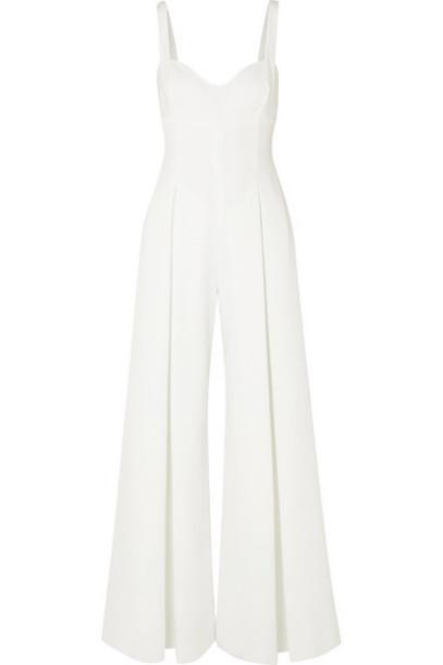 Emilia Wickstead - Ellen Cloqué Jumpsuit - White