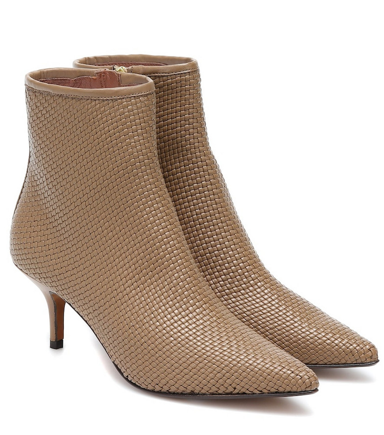 Souliers Martinez Santander 65 leather ankle boots in brown