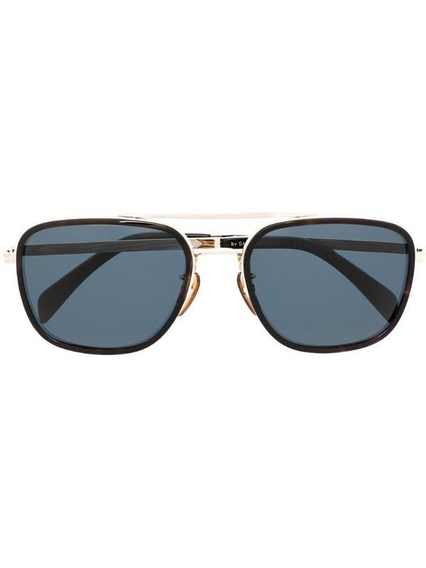Eyewear by David Beckham aviator-frame sunglasses in black