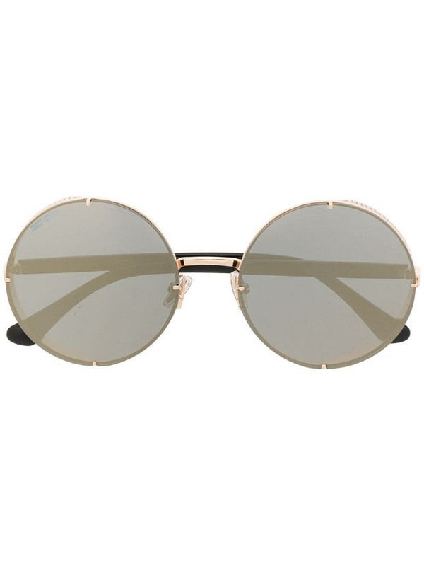 Jimmy Choo Eyewear round-frame sunglasses in gold